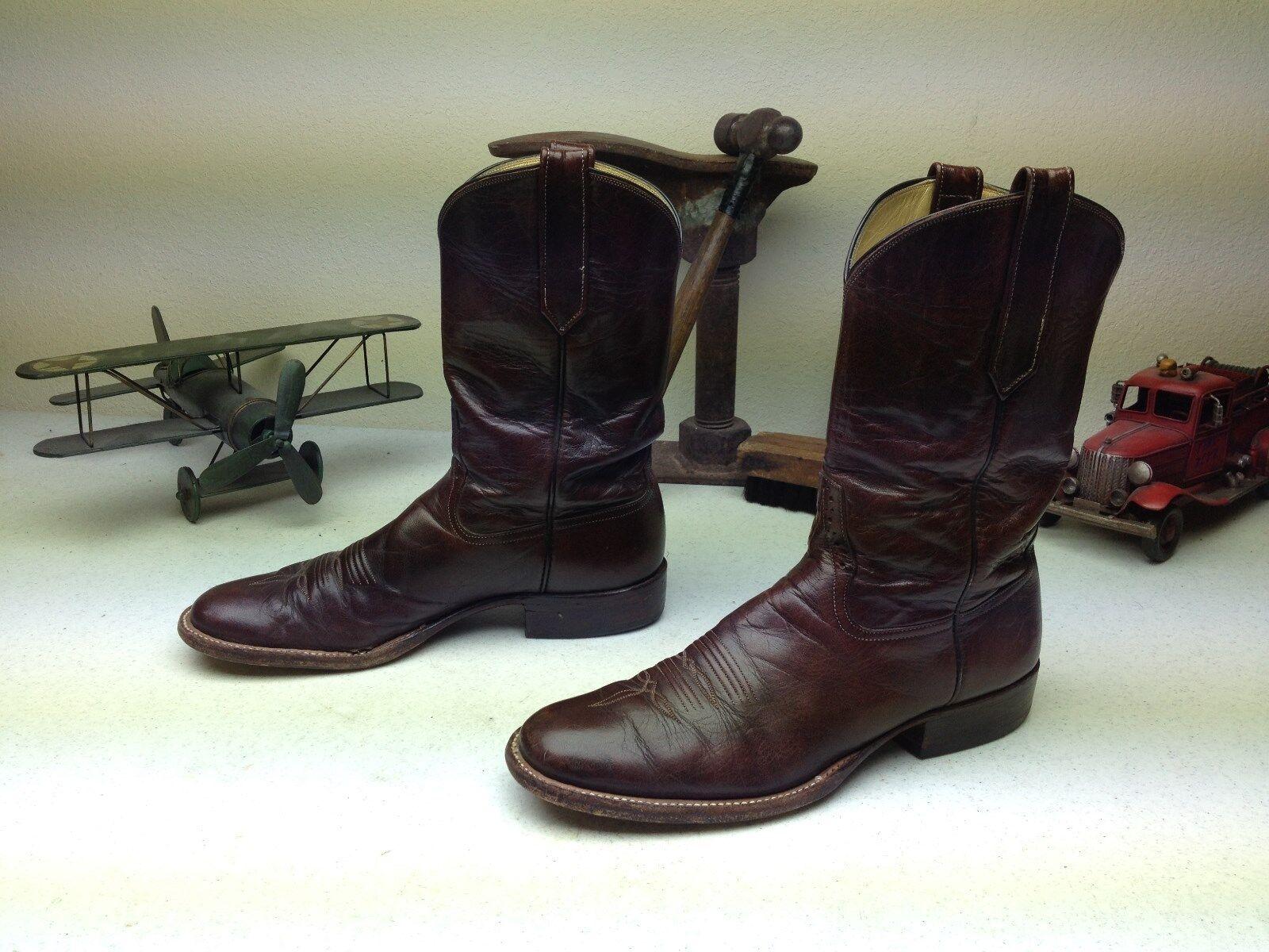 Envejecido rios de Merceds Ingeniero Color occidental de cuero Bota De Cowboy 10,5 A