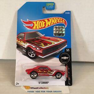 039-67-Camaro-313-RED-2017-Hot-Wheels-FACTORY-SET-ND13