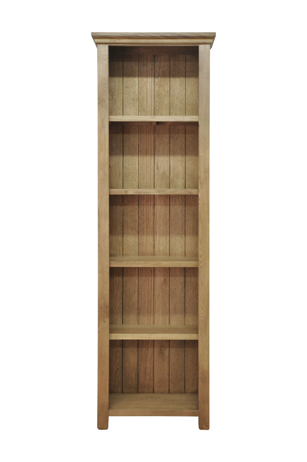 New Bookcase Toy Box White Finish Bedroom Playroom Child: Toronto Solid Oak Large Narrow Bookcase / Bookshelf