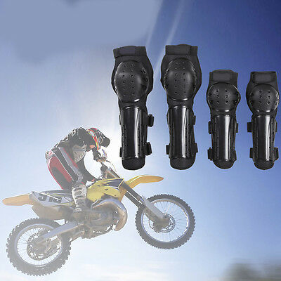 4x Knee Pad Elbow Protection Body Armor Rading Skating Gear For Motorcycle Bike