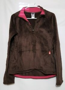 Image is loading Womens-juniors-The-North-Face-brown-pullover-sweat- c7a9d9603