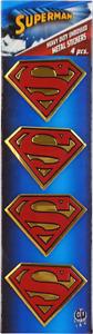 37027-Superman-Shield-Logo-METAL-EMBLEM-Superhero-Comic-Sticker-Decal-PACK-OF-4