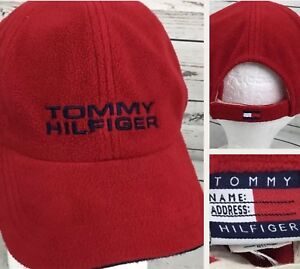 779c91e2 Vintage Tommy Hilfiger Hat Fleece Cap Retro 90s Spell Out Lotus Box ...