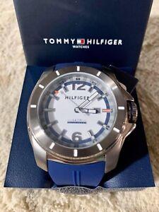 Tommy-Hilfiger-Men-039-s-1791113-Cool-Sport-Analog-Display-Quartz-Blue-Watch