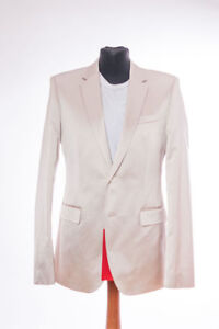 HUGO-BOSS-Costume-Aeron-1-Haren-1-Taille-98-Neuf-48-Suit-Argent-Or-Silvester-Nye