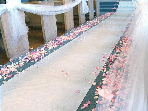 FREE SHIP 50 ft Long WHITE Wedding Aisle Runner Great for Outdoors