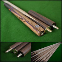 57 Handmade/hand-spliced Snooker Cue (butt: Rosewood With Blue/red Inlays)
