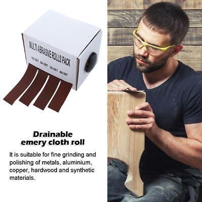 1 Box Sanding Belt Drawable Emery Cloth Sandpaper Wood Grinding Roll Belts NI5L