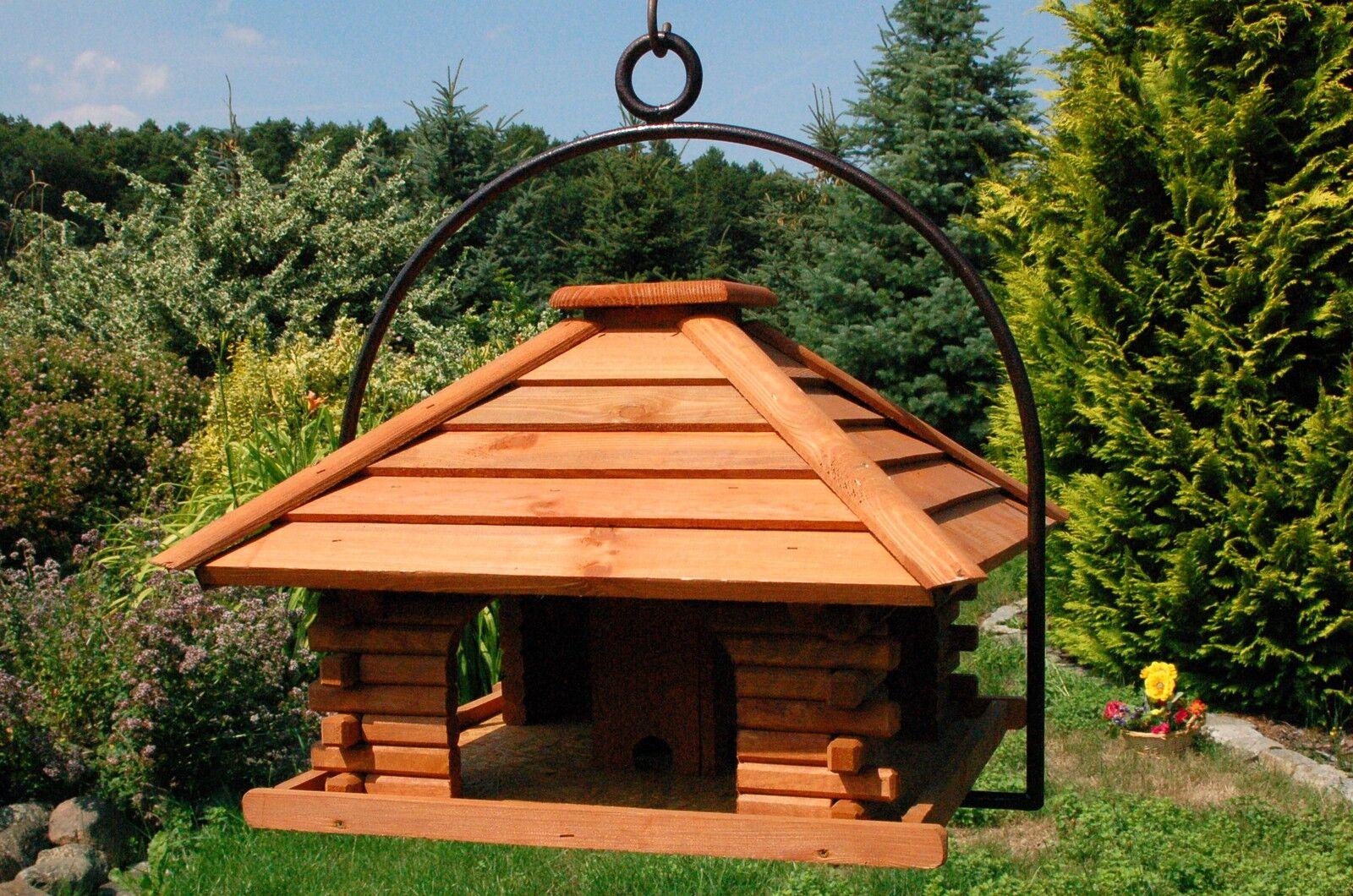 Vogelhaus Futterhaus zum aufhängen mit rostfreiem Bügel aus Stahl V20 hängend | Schön und charmant  | Schönes Aussehen  | Verrückte Preis