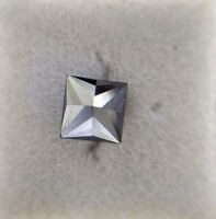 0.84TCW Black Color Princess shape Antiqe African Natural Loose Diamond For Ring