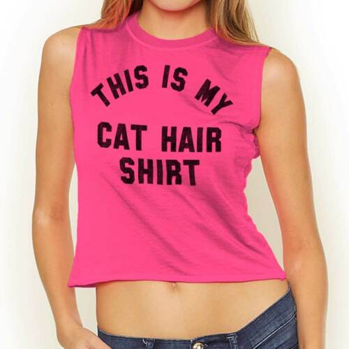 Cat Hair Shirt Funny Pet Owner Kitten Lover Parent Gift Crop Top tees Shirt T