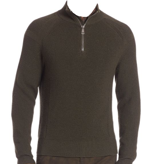 398 Polo Ralph Lauren Half-Zip Moto Sweater Größe: Large