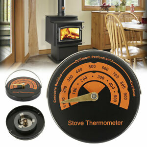 ^Stove Flue Pipe Thermometer Oven Temperature Gauge For Wood Burner Fireplace UK