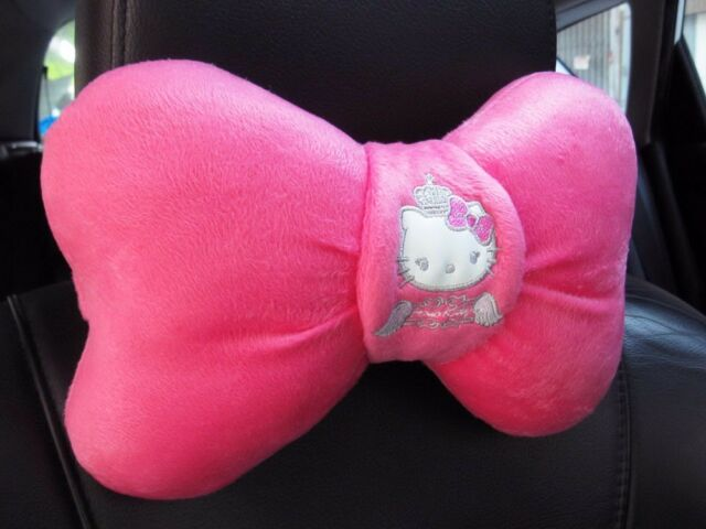 Hello Kitty Car Accessory : 1 piece Neck Rest Cushion Head Pillow #Angel