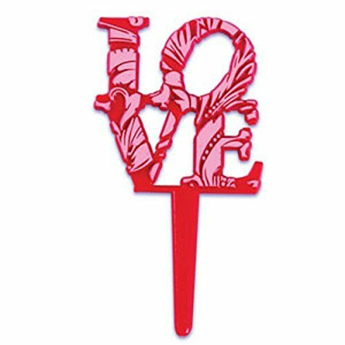 LOVE Valentine/'s Day Pink and Red Picks 24 Count