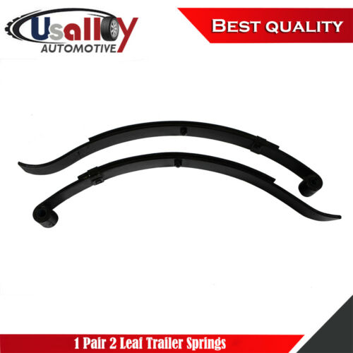 """1 Pair of Boat//Utility Trailer Slipper 2 Leaf Rated Springs 24.5/"""" For 1000lbs"""