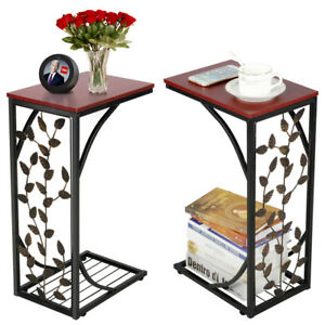 Terrific Details About 2Pcs Small C End Table Sofa Couch Bedside Chairside Table Living Room Nightstand Ncnpc Chair Design For Home Ncnpcorg