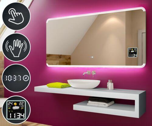 Specchio Del Bagno Con Illuminazione LEDInterruttoreStazione MeteoL73