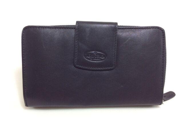 BEAR Design Geldbörse Portemonnaie Brieftasche FR2881 Leder schwarz