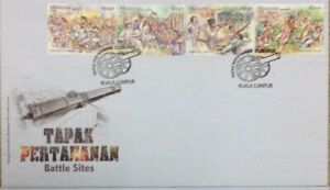 Malaysia FDC with Stamps (15.09.2016) - Battle Sites