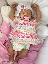 "CHILDRENS REBORN DOLL REAL BABY GIRL JESS REALISTIC 22"" NEWBORN LIFELIKE UK"