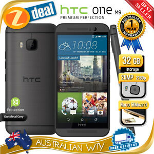 NEW-SEALED-BOX-HTC-ONE-M9-32GB-4G-LTE-GREY-100-UNLOCKED-PHONE-12MTH-AUS-WTY