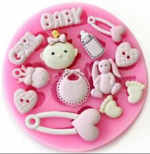 Baby Girl Things 13 Cavity Silicone Mold for Fondant, Gum Paste, Chocolate