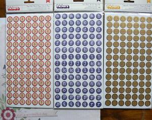 Round-TYPEWRITER-Gold-BINGO-Red-Cream-Blue-White-Thicker-Appr17mm-Choice-L2R