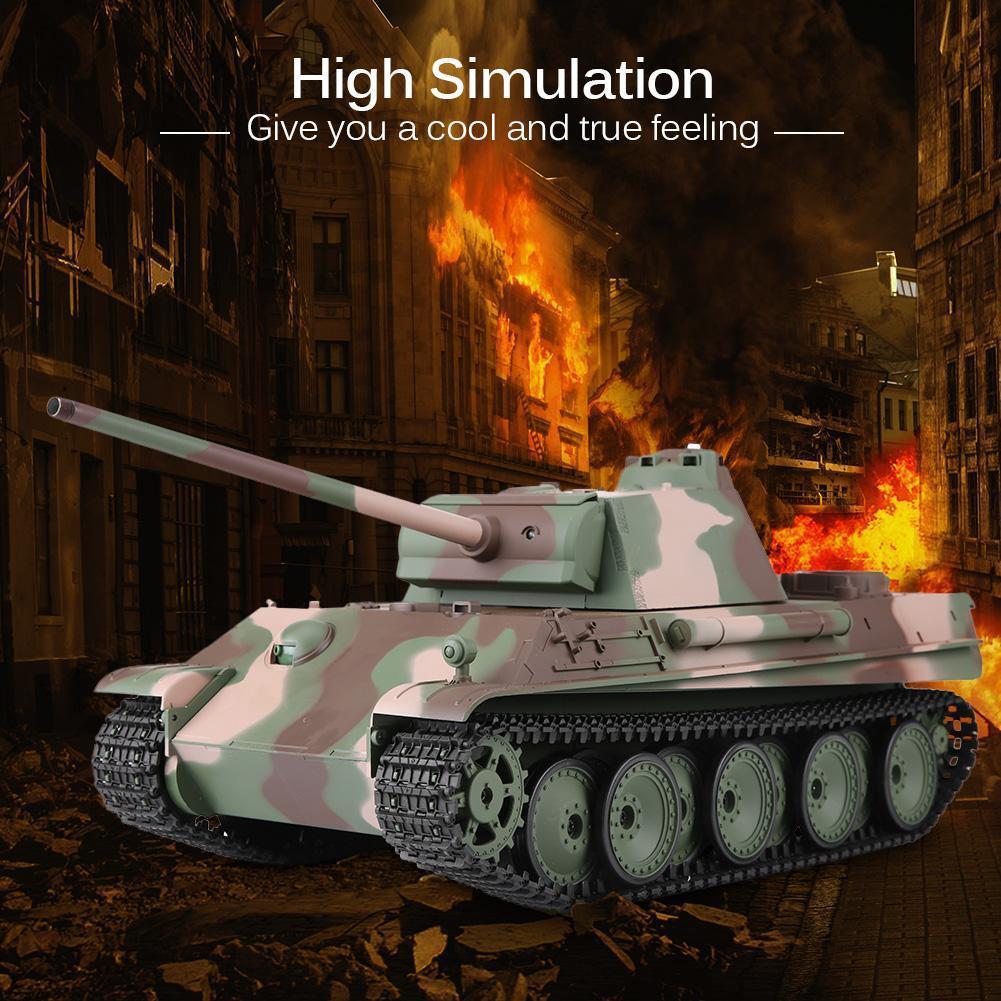 Heng Heng Heng Largo 3879-1 2.4G 1/16 alemán Panther tipo G Negro Heavy-Duty Tanque de Batalla cca17b