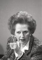 Margaret Thatcher Point BW Poster