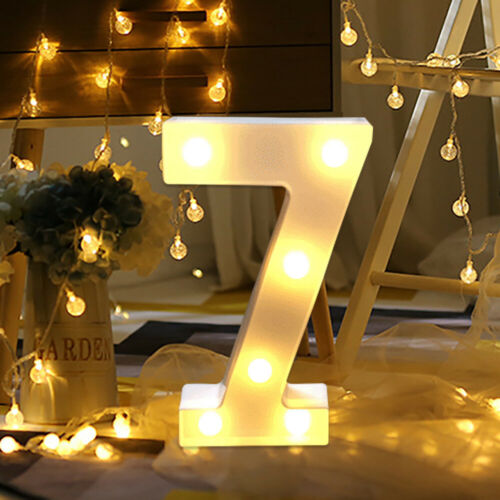 Large Alphabet Number LED Digital Lights Light Up Digital Standing Hanging 0-9