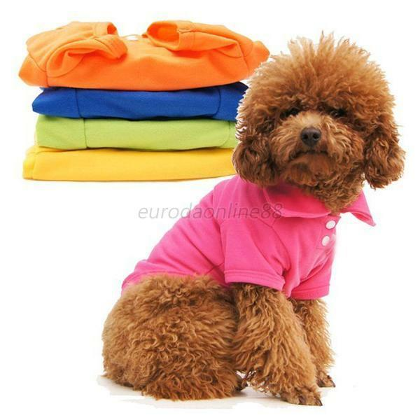 Cute Dog Pet Doggy POLO Shirt Puppy Dog Clothes Short Sleeve T-Shirts XS S M L