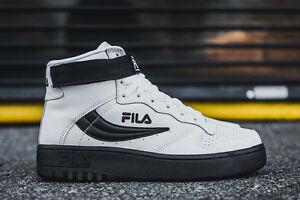 109e777369c0 fila FX-100 High Top Originals WHITE BLACK MENS US SHOE SIZES ...
