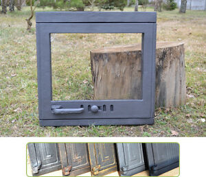 47,5x46,5 Big Cast Iron Fire Door Clay Antiques Bread Oven /pizza Stove Fireplace Dz023
