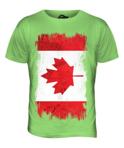 CANADA GRUNGE FLAG MENS T-SHIRT TEE TOP CANADIAN SHIRT FOOTBALL JERSEY GIFT