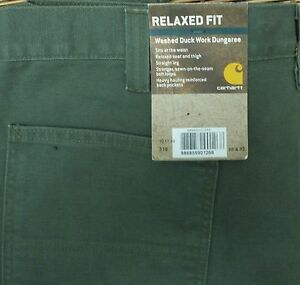 CARHARTT-WASHED-DUCK-WORK-DUNGAREE-MENS-ARMY-GREEN-RELAXED-UTILITY-PANTS-LIST-50