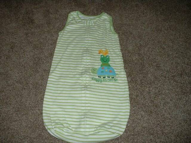 Carter's Baby Boys Striped Turtle Sleepsack Bag Size 0-9 months 0-3 3-6 6-9 mos