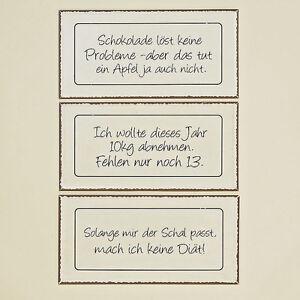 Blechschild Mit Spruch Creme Schwarz Braun 40x20 Cm Verschiedene