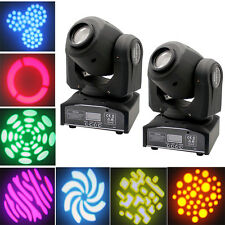 2PCS 30W RGBW LED Moving Head Stage Lighting DMX Disco DJ Party Xmas Beam Lights