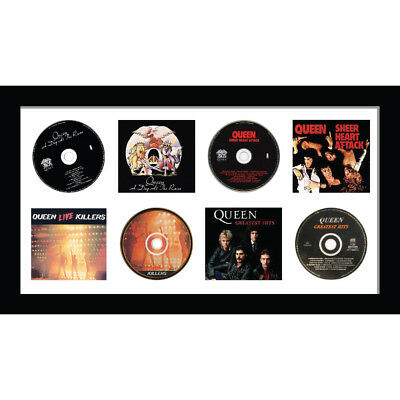 Merged Mahogany Frame | White Mount Kwik Picture Framing Ltd Frame for Single 12 Vinyl LP Record with Album Cover