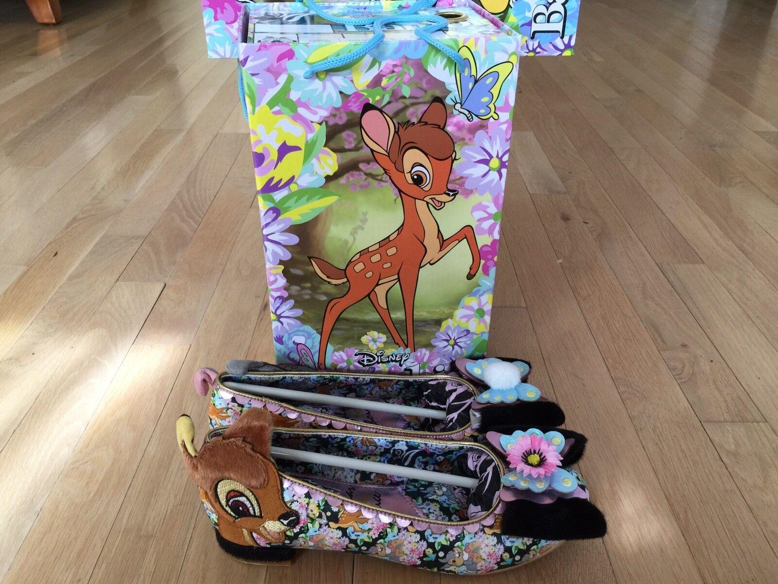 NEW Women's Irregular Choice Bambi Forest Friends Disney Disney Disney shoes Flats NIB bd2cda