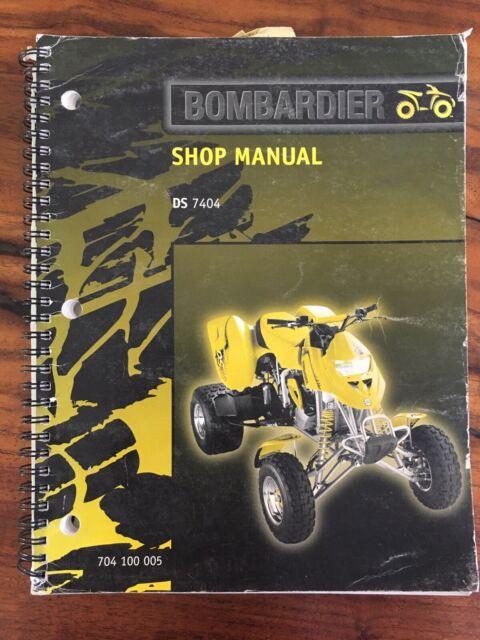2000 Factory Bombardier Atv Ds 7404 Shop Manual