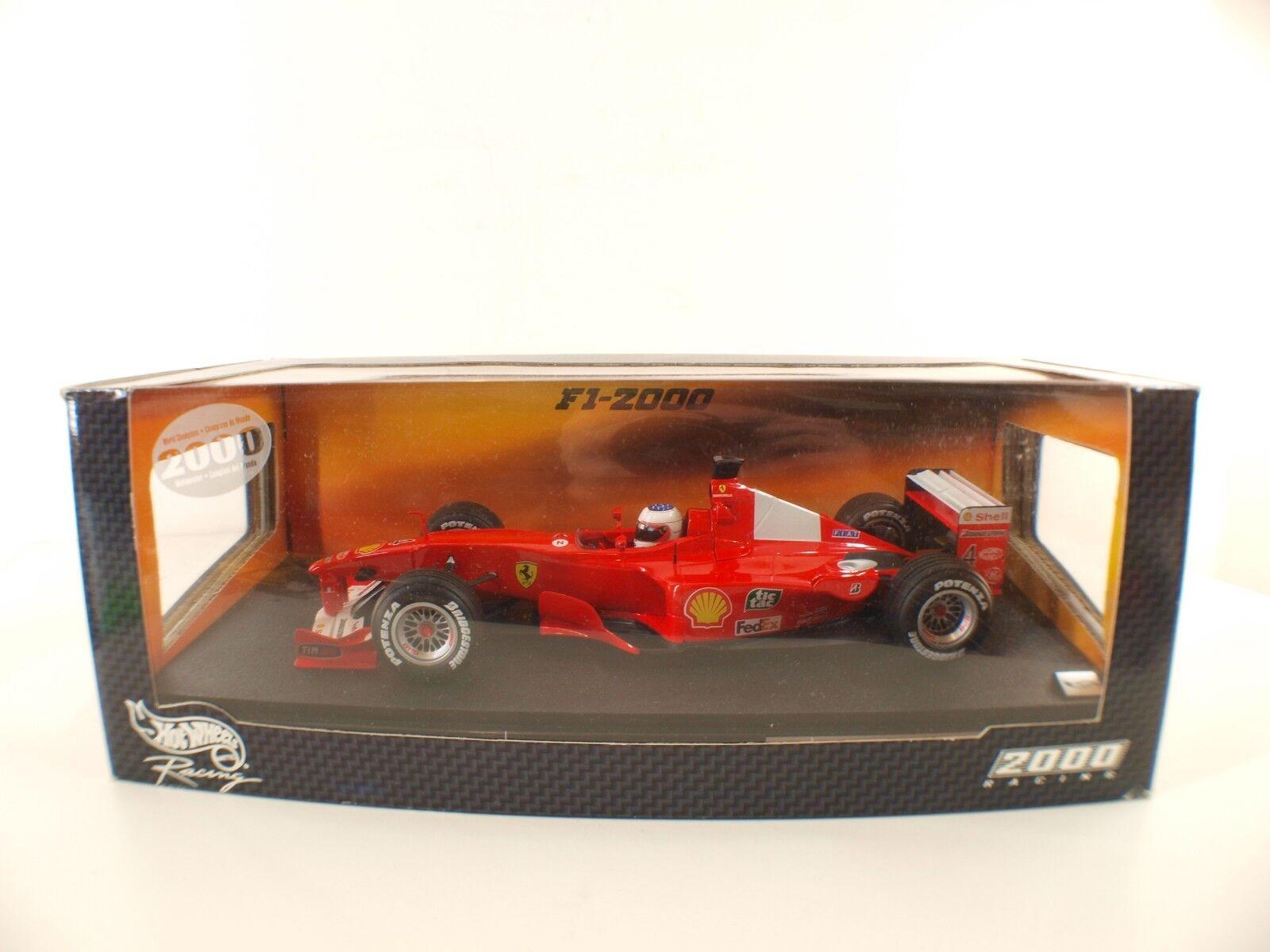 Mattel Hot Wheels n° 26738 F1 2000 2000 2000 Ferrari #4 Rubens Barichello 1/18  MIB neuf e658f7