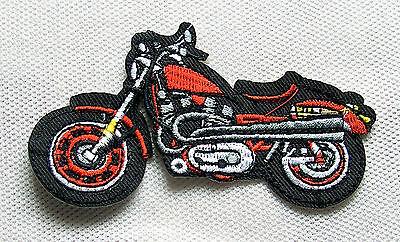 Motorrad türkis Aufnäher Bike Biker Roller Moped Geländemaschine Chopper Patch