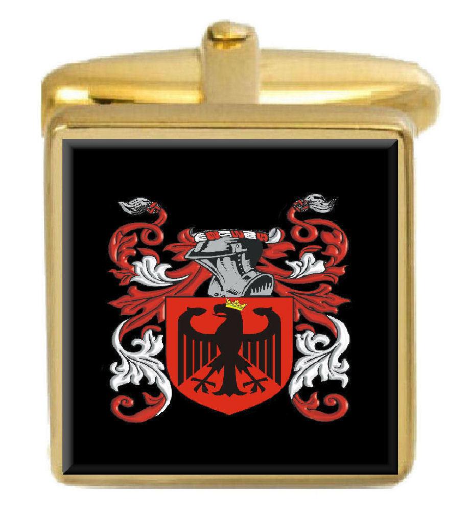 Bassett Irlanda Famiglia Stemma Cognome Stemma oro Gemelli Gemelli Gemelli Inciso Scatola 868cd5