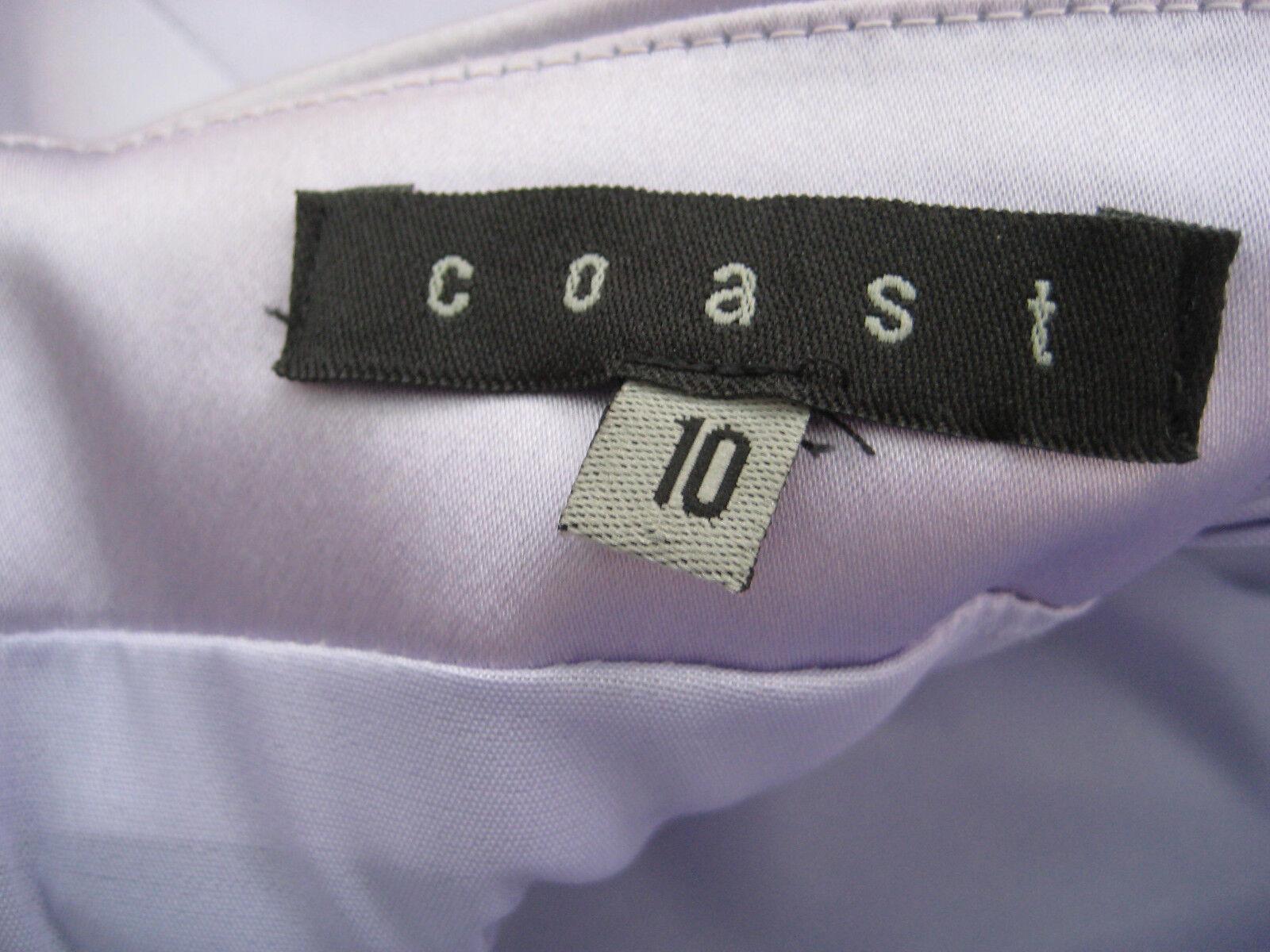 Coast LILLA  in Raso Look  Senza Spalline Abito Abito Abito Taglia 10 bd7965