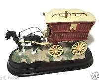 Leonardo Collection - Horse With Carrage on a Wooden Base - Beautiful Ornament