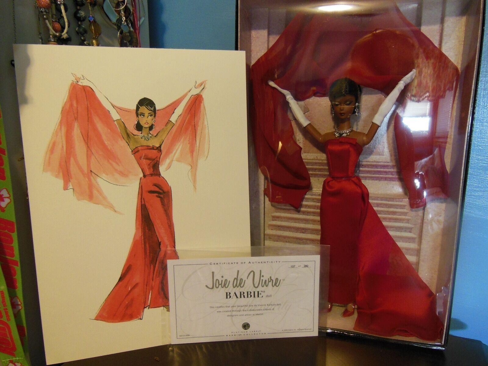 Convención de 2008 Barbie alegría de vivir AA afroamericano-nunca quitado de la caja