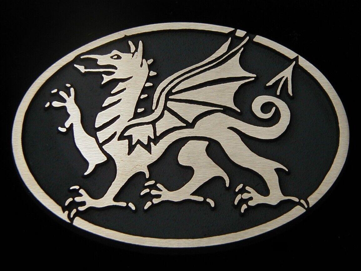 Welsh Dragon Solid Bronze Belt Buckle Rainbow Metals Brand New