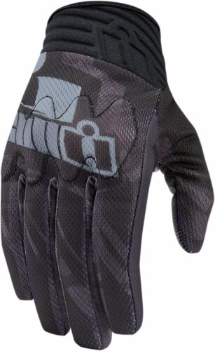NEW ICON BLACK ANTHEM PRIMARY MOTORCYCLE GLOVE ALL SIZES CRUISER SPORTBIKE STUNT